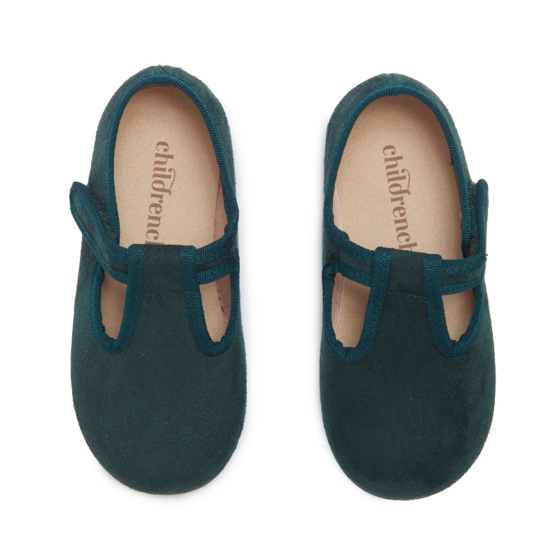Childrenchic® Green Suede T-band Shoes