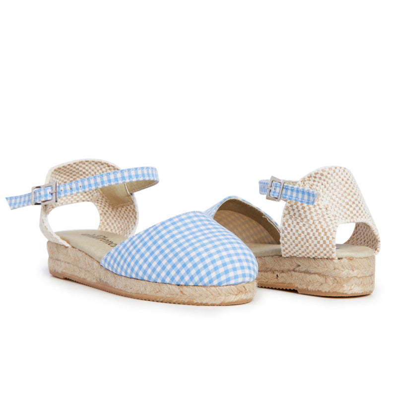 Girls' Childrenchic® Gingham Canvas Espadrille