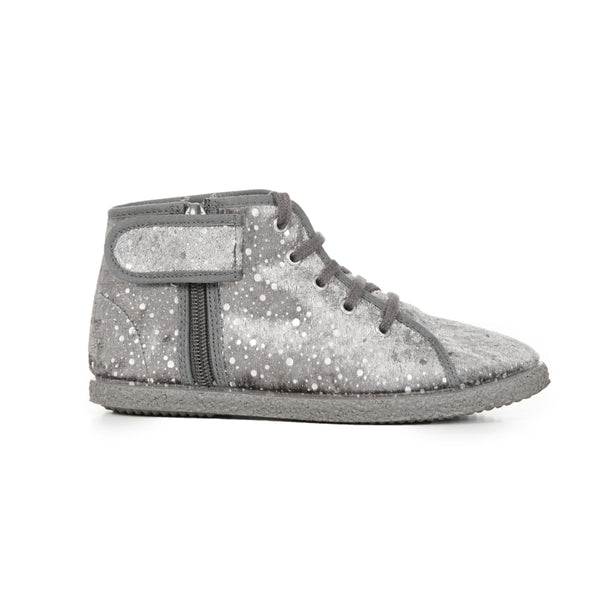 Girl's Galaxy Suede Lace-Up McAlister Booties with Zipper