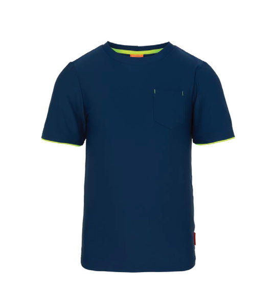 Boys Navy Short Sleeve Rashguard