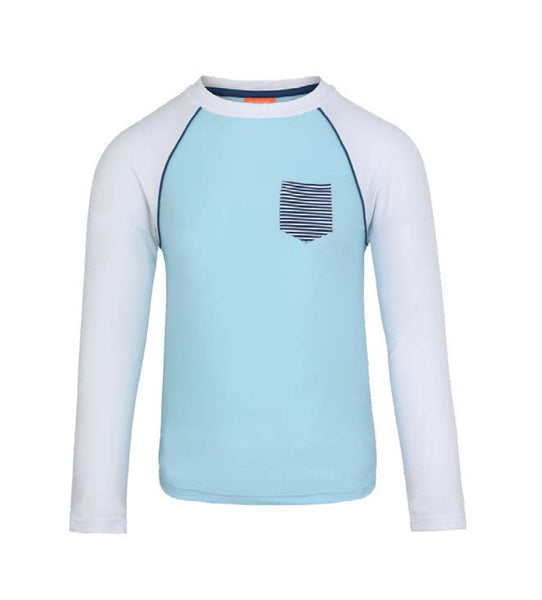 Boys Blue Long Sleeve Rashguard