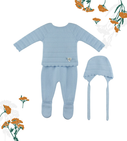 Blue Baby Classic 3-piece Set