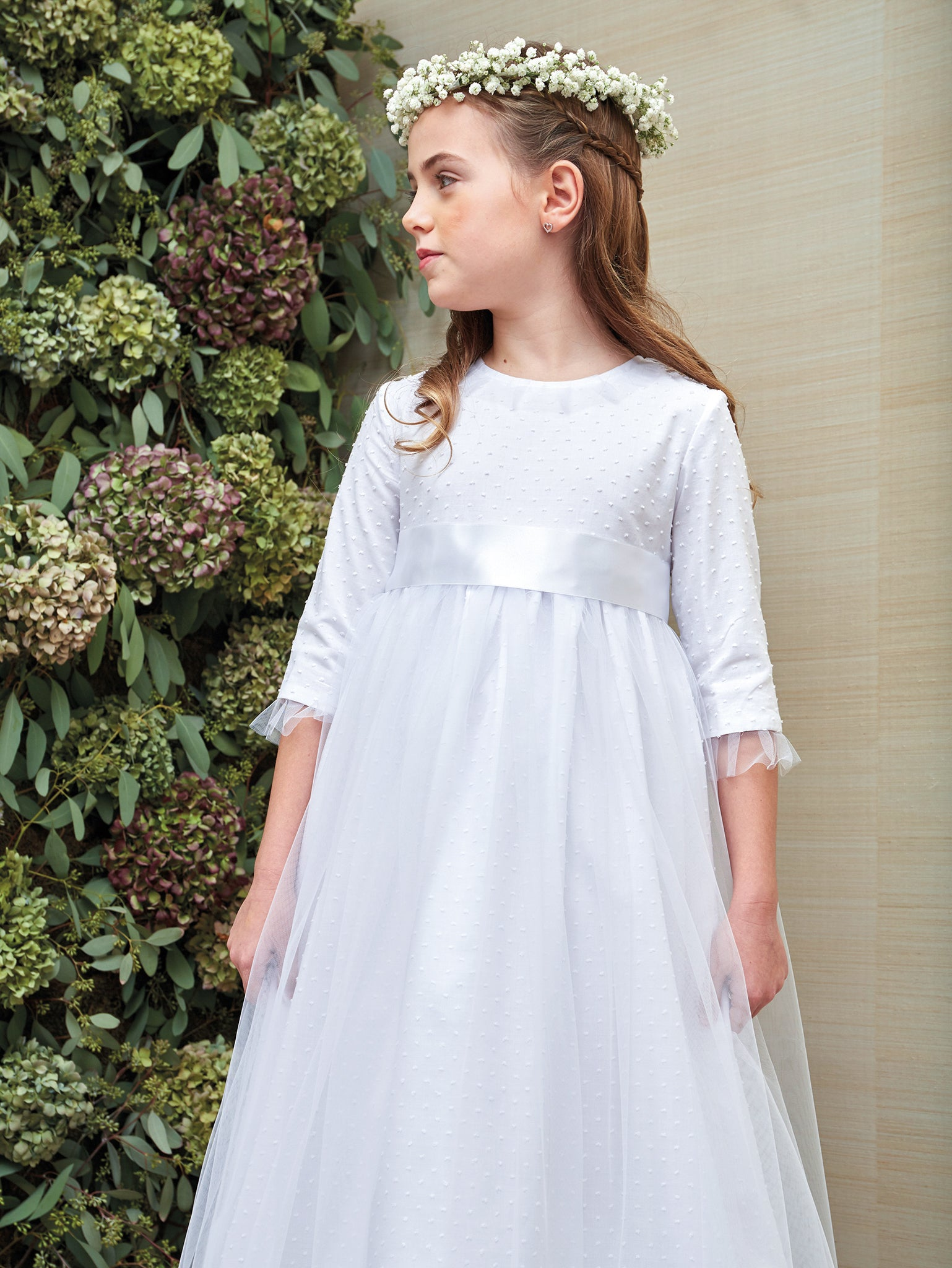 Angel Swiss Dot and Tulle Communion Dress
