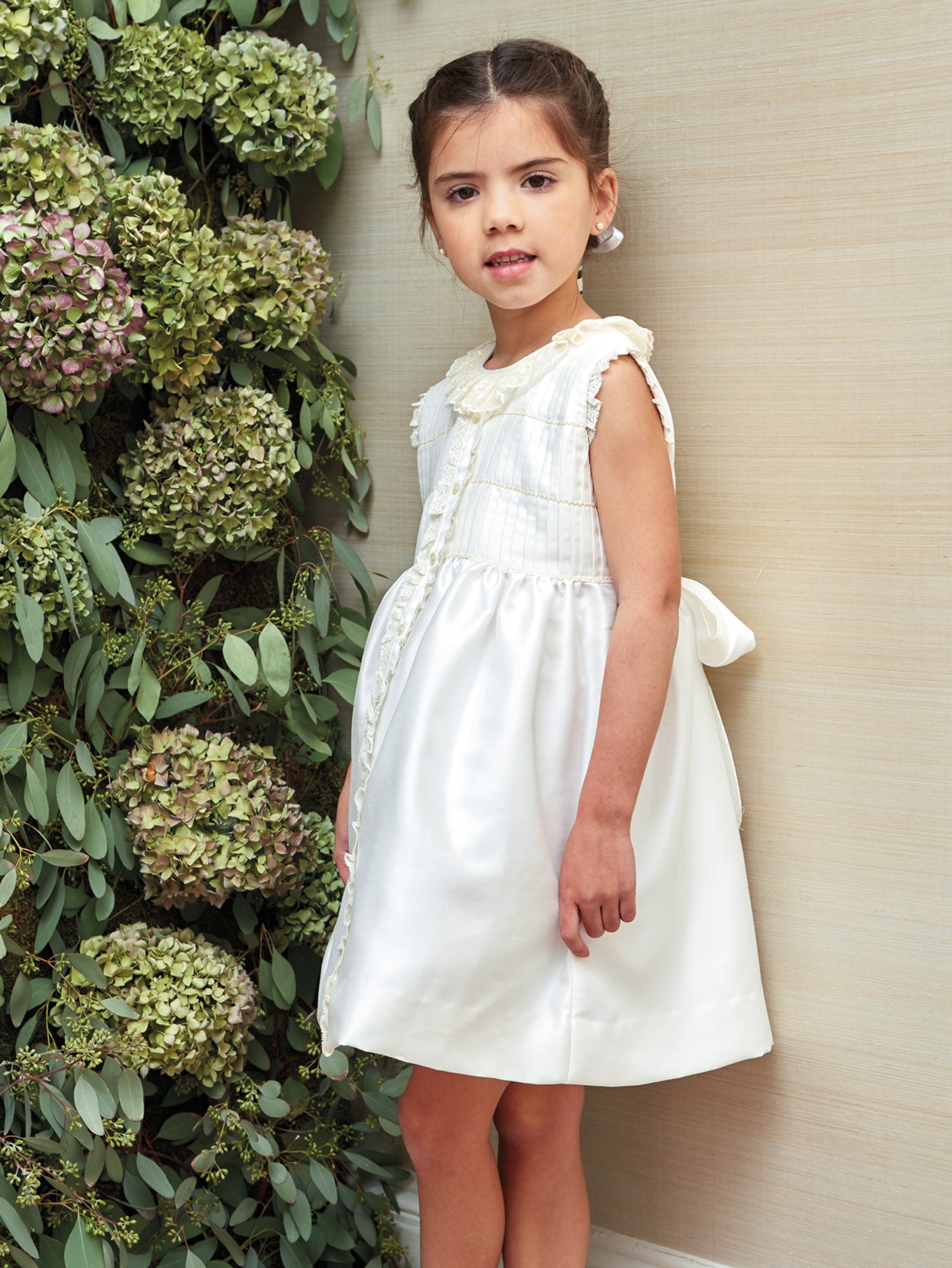 Satin and Pleating Special Occasion Dress