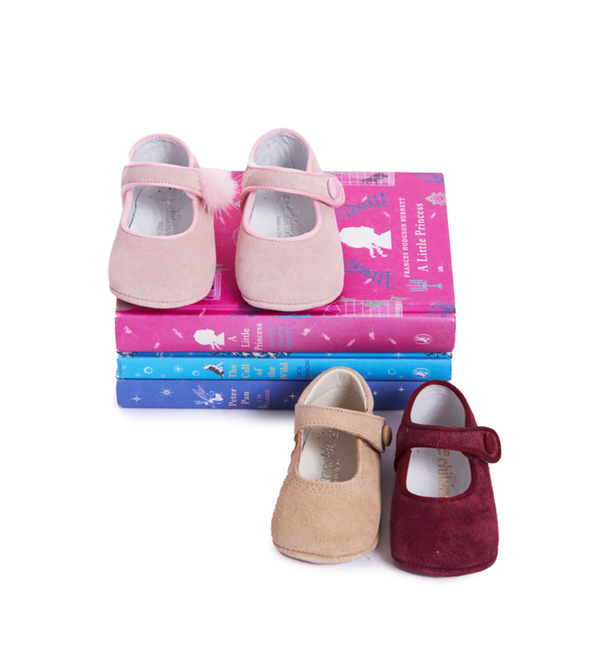 Childrenchic® My-First Camel Suede Mary Janes