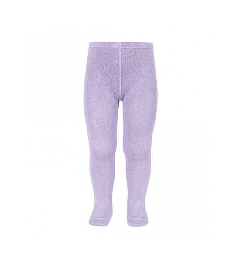 Girl's Plain Stitch Tights in Lavender