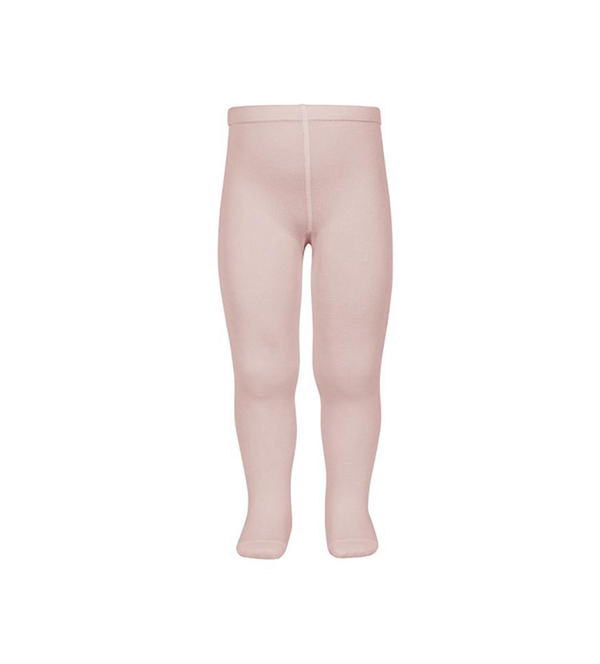 Girl's Plain Stitch Dusty Rose Tights