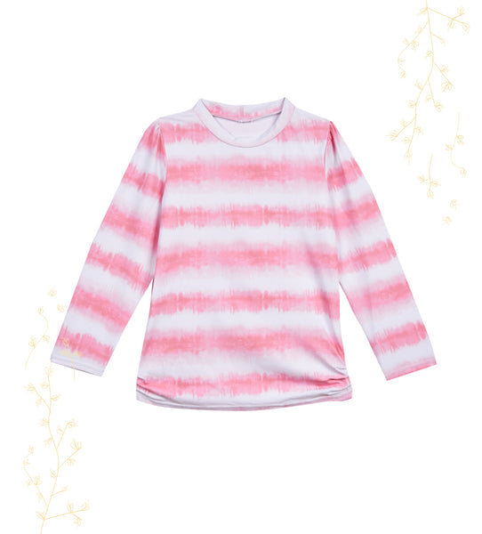 Girls Childrenchic® Pink Tie Dye Rashguard