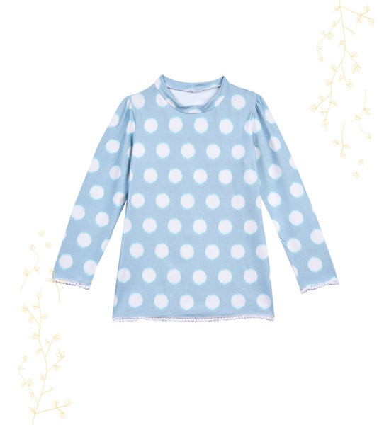 Girls Childrenchic® Aqua Dots Rashguard