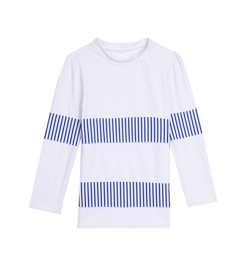 Blue Striped Bands Rash Guard