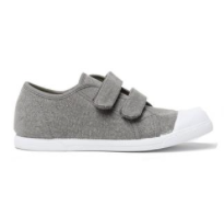Amazon - Kids' Childrenchic® double hook and loop sneakers in grey