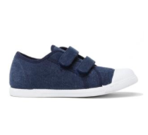 Amazon - Kids' Childrenchic® double hook and loop sneakers in navy
