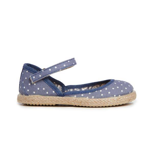 Girl's Childrenchic® Yute Mary Jane in Denim Dots