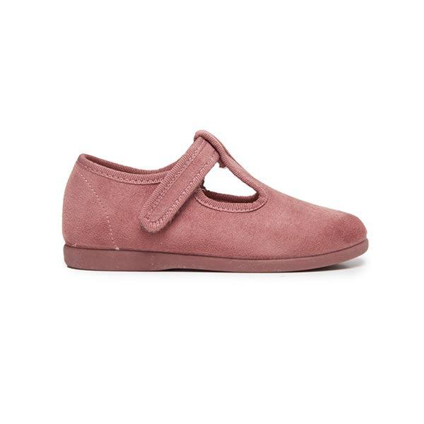 Girl's Childrenchic® Suede T-band in Rose