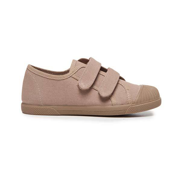 Kids' Childrenchic® Double Hook and Loop Sneakers in Camel