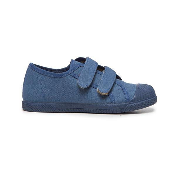Kids' Childrenchic® Double Hook and Loop Sneakers in Indigo