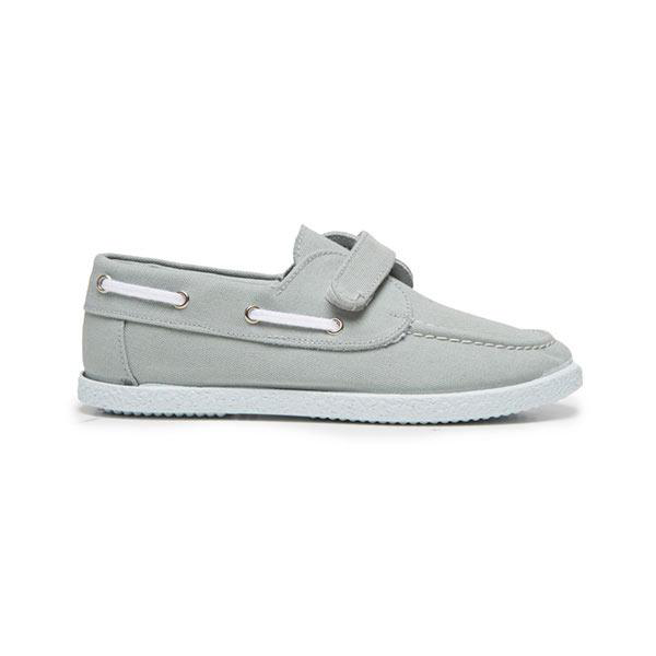 Kids' Childrenchic® Canvas Boat Shoe in Grey