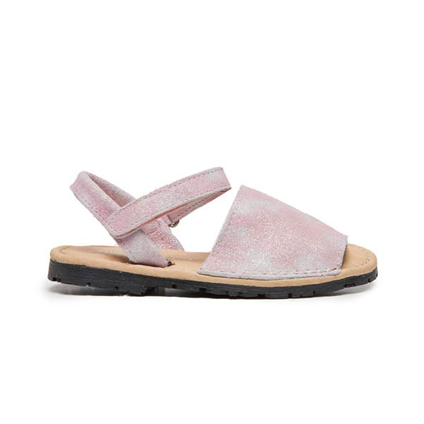 Girls' Childrenchic® Leather Sandals in Tie-dye Pink