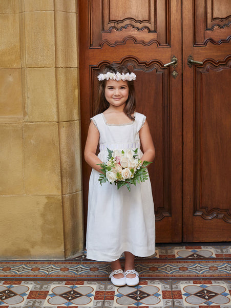 Chic Empire Satin Sash Flower Girl Dress