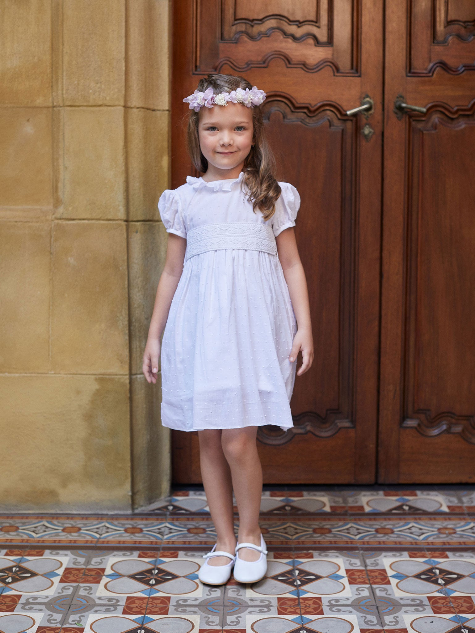 Charming Grace Flower Girl Dress with Sash