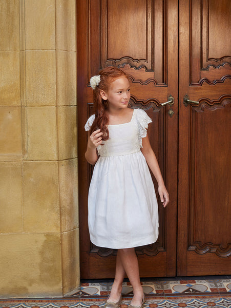 Vintage Lace Ruffles Flower Girl Dress