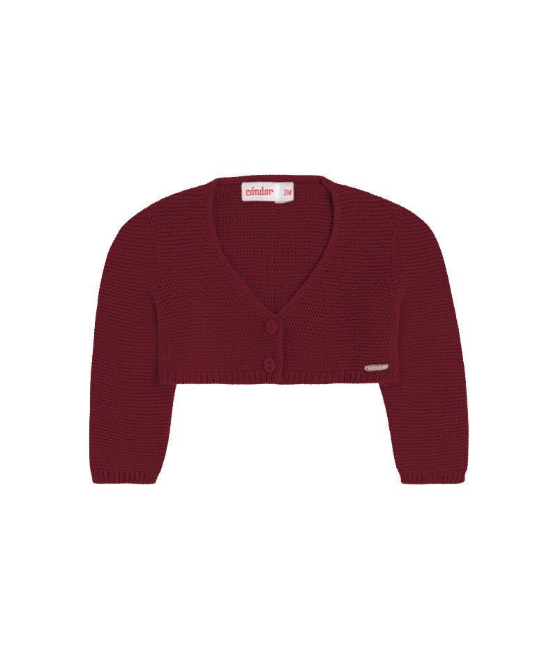 Baby's Dark Red Bolero Cardigan