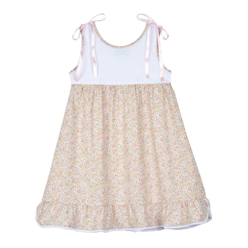Girl's Liberty House-dress with Satin Bows