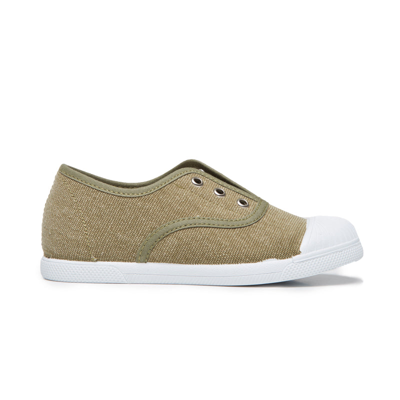 Kids' Childrenchic® captoe slip-on sneakers in military green