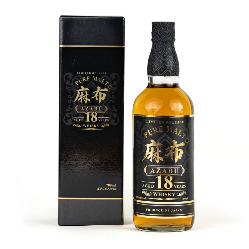 *AZABU 18-YEAR AGED PURE MALT WHISKY 700ML
