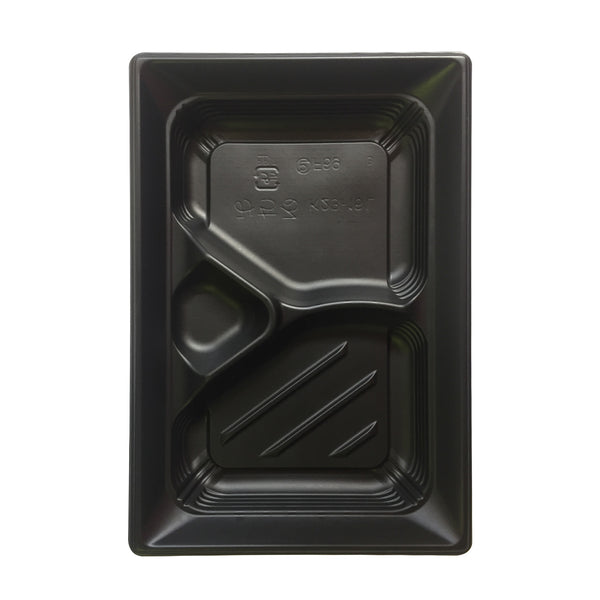 *CHUO CT-MICHIRU K23-16 FOOD CONTAINER TRAY / 50 PC BLACK