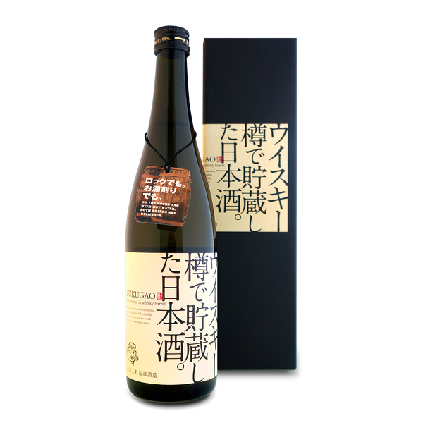 *FUKUGAO SAKE STORED IN WHISKEY BARREL 720ml