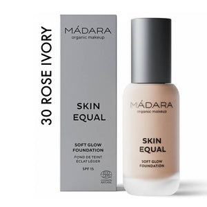 SKIN EQUAL Organic Foundation con SPF15 ROSE IVORY 30