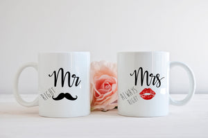 Mr.Right Mrs.Always Right Mug