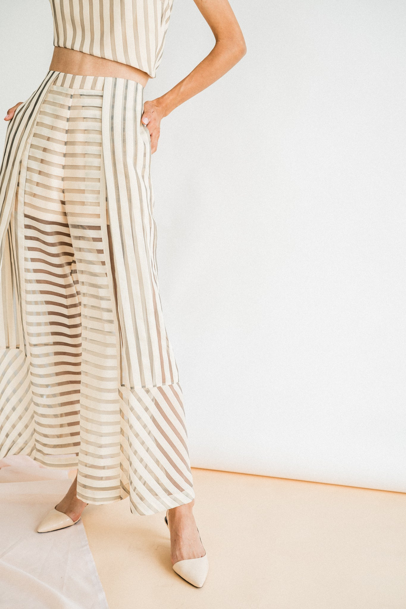 Wilma Pants in Pastel Stripe
