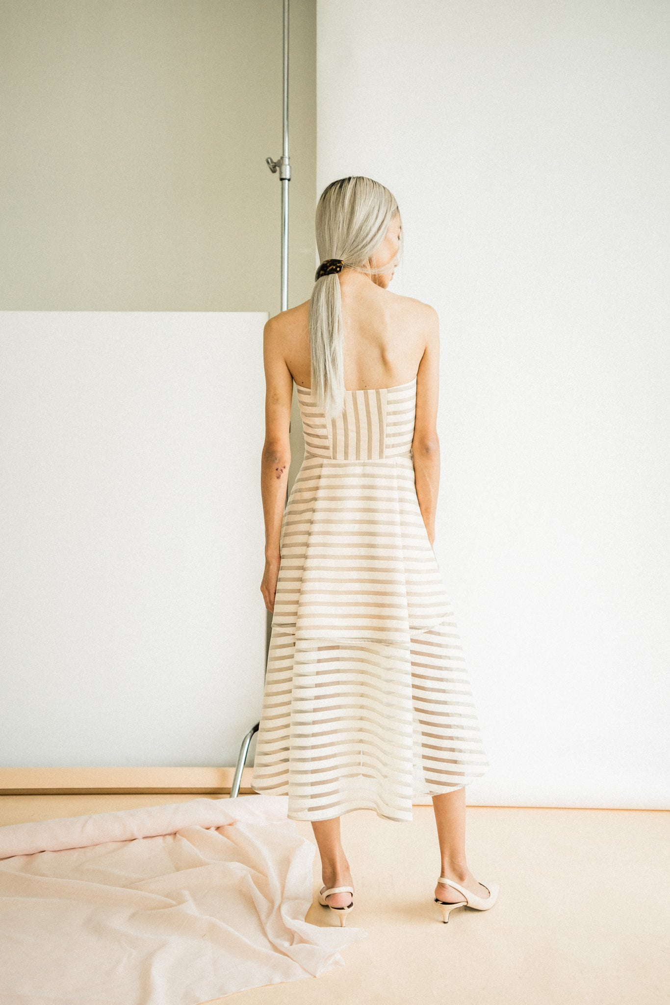 Dany Dress in Pastel Stripe