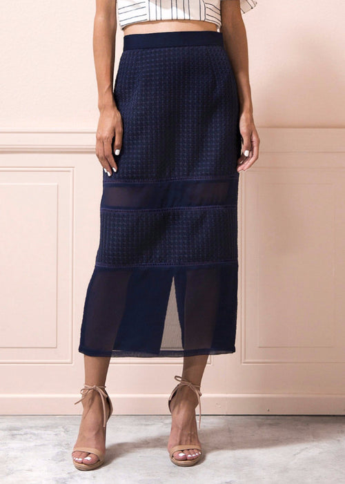 Linna Skirt in Navy