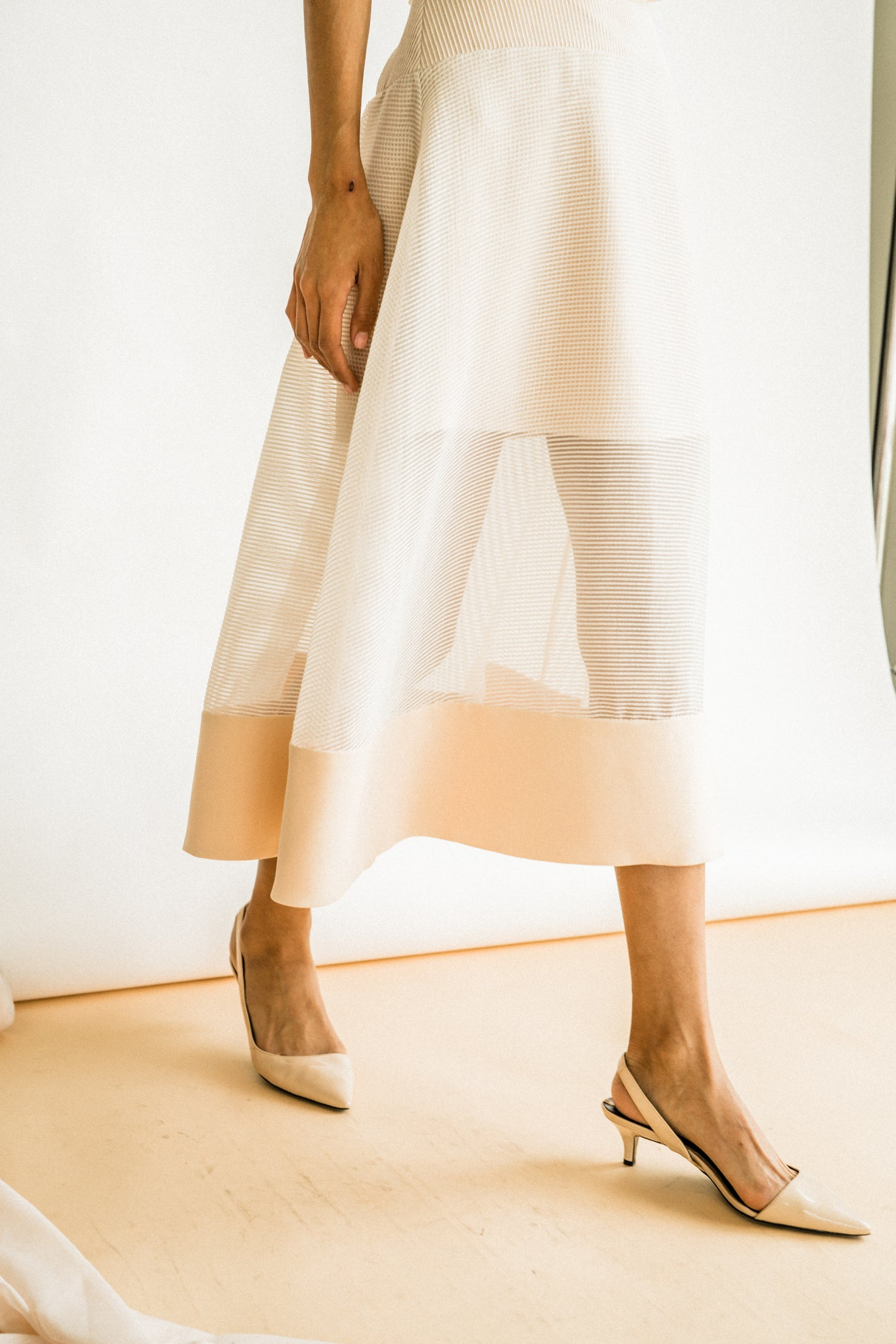 Pauline Skirt in Pastel Peach