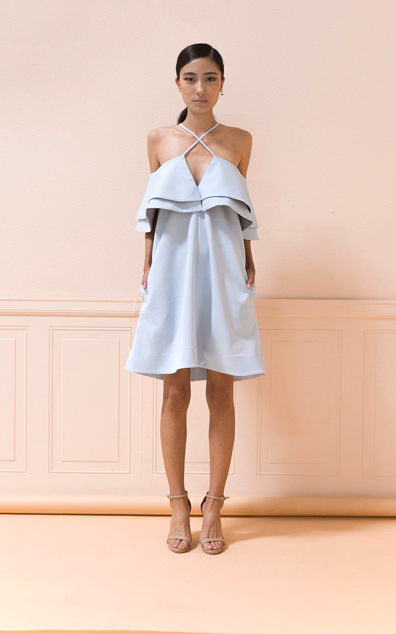 Camille Dress in Sky Blue