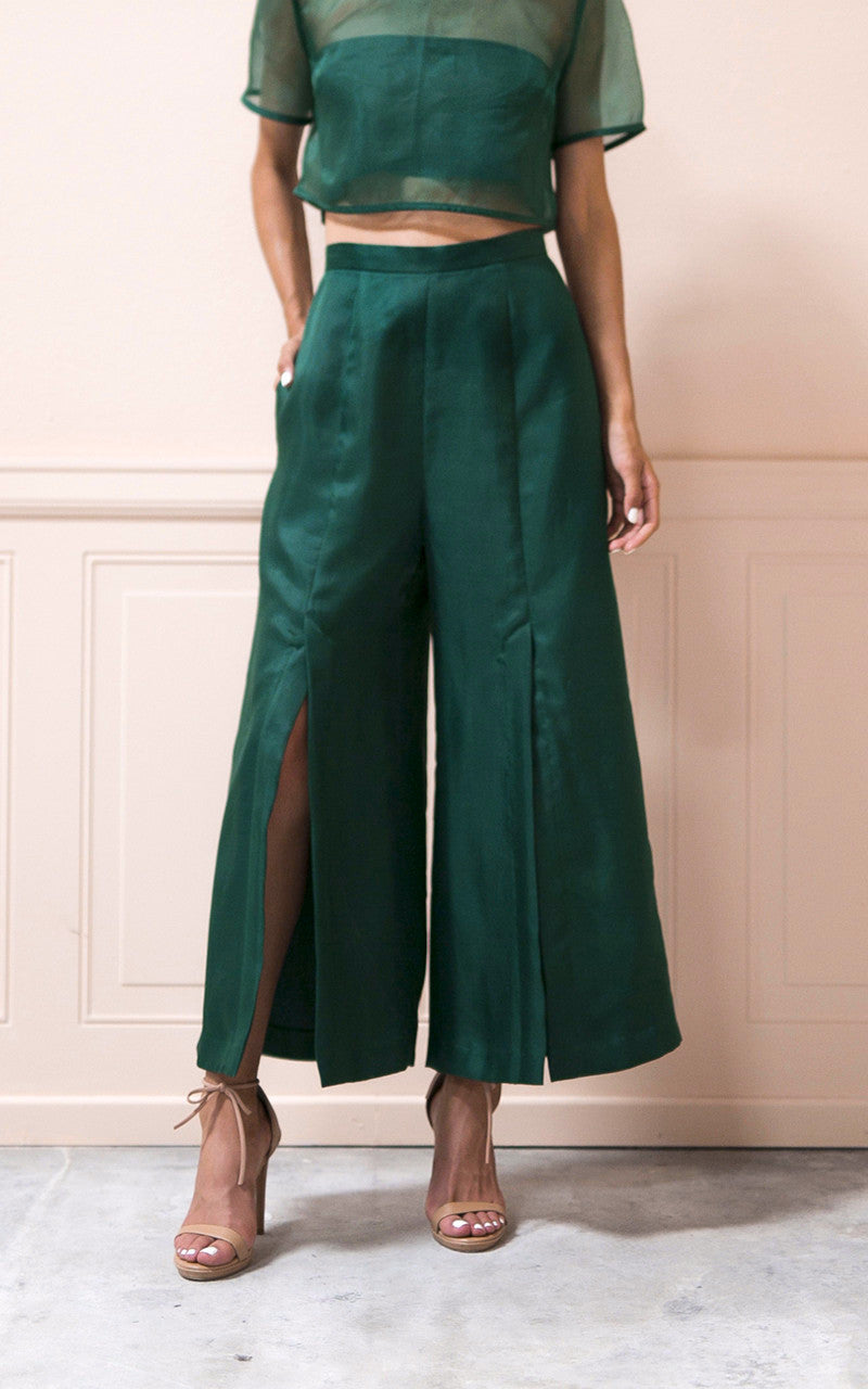 Kamauri Pant in Emerald
