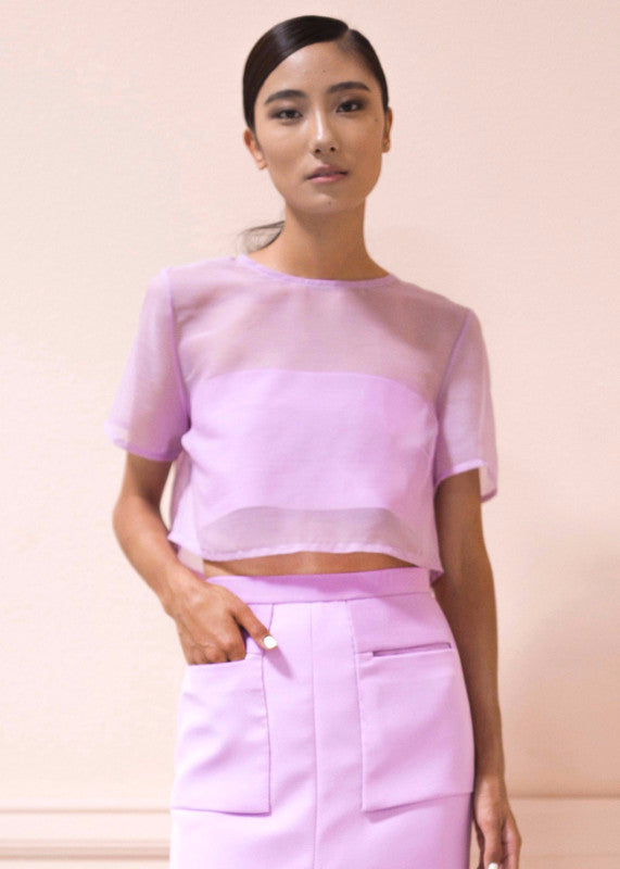 Meg Top in Lilac