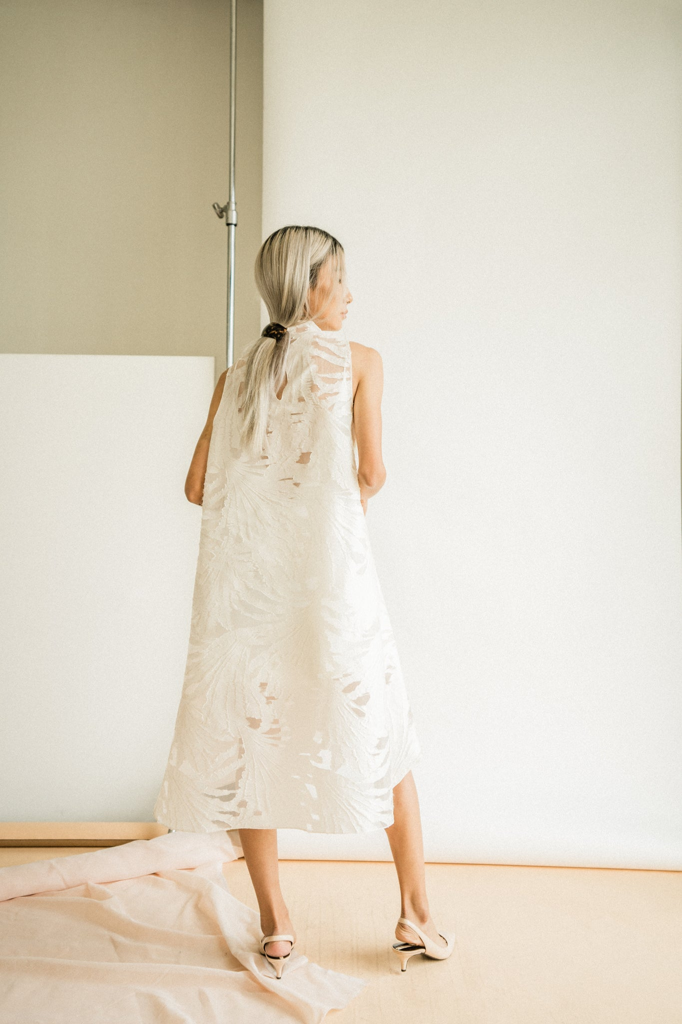 Dolker Dress in Cream Floral