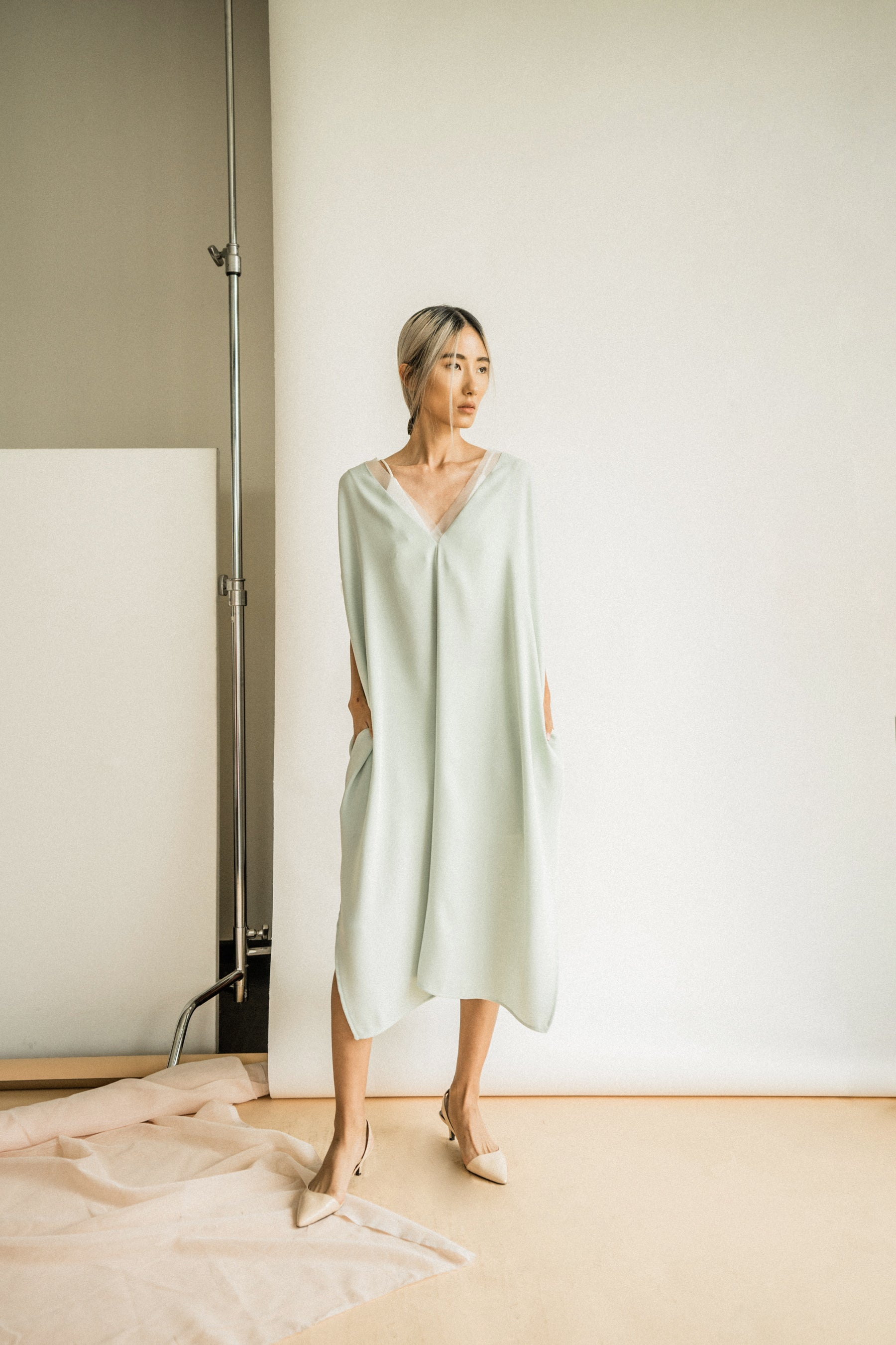 Nancy Dress in Dusty Mint