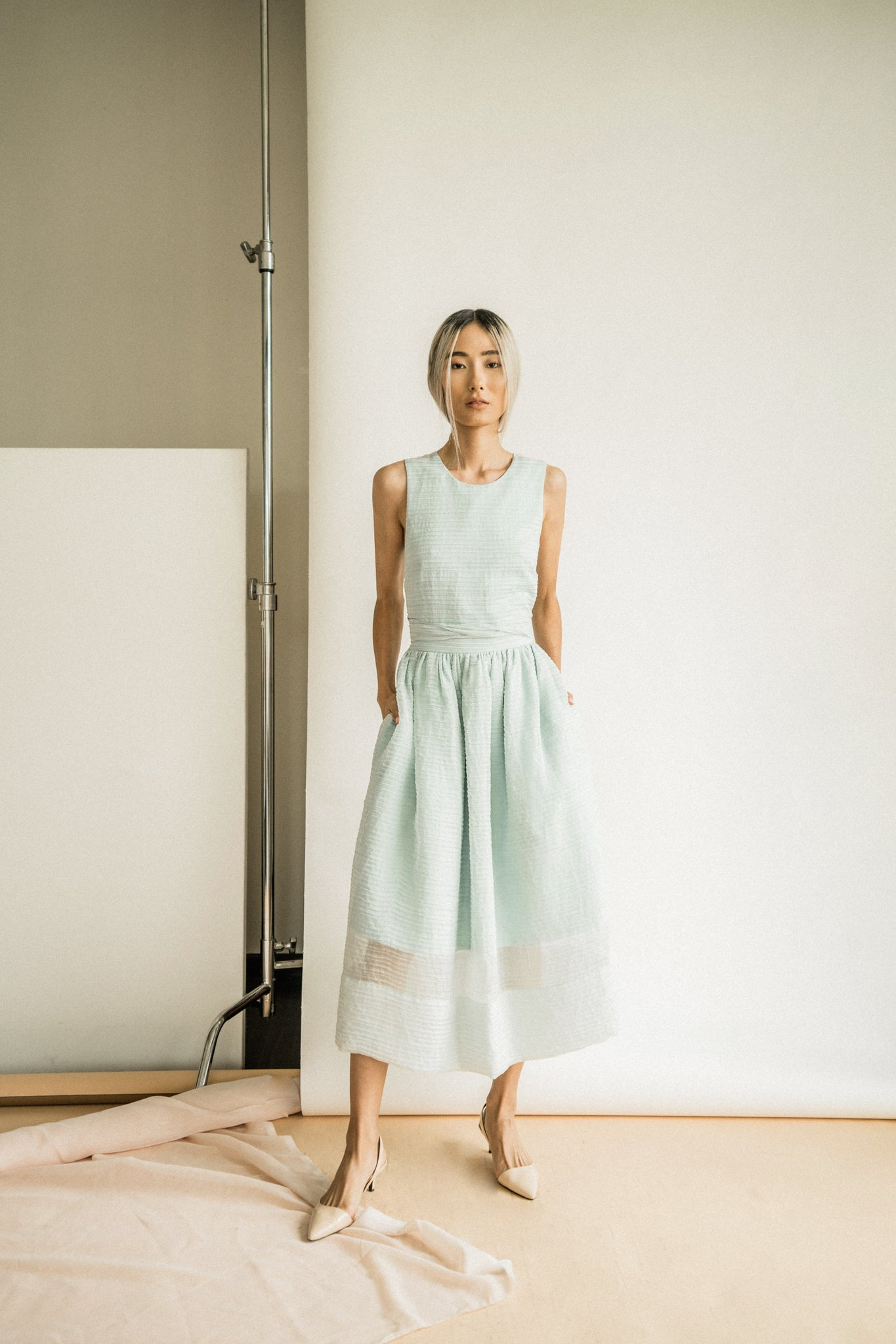 Katherine Dress in Dusty Mint