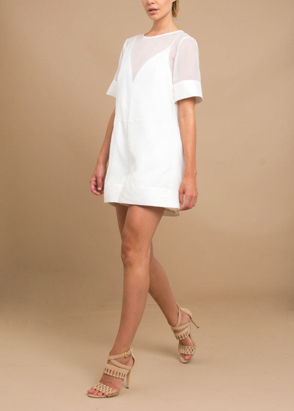 SALE | Sarah Romper in White