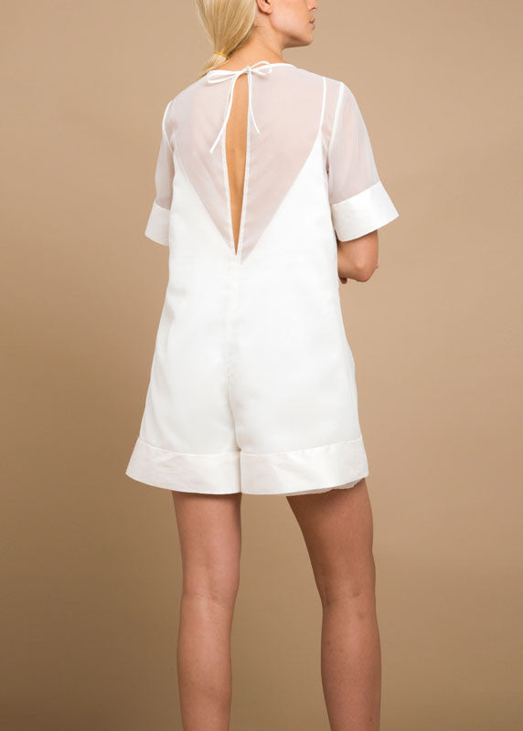 Sarah Romper in Bridal White
