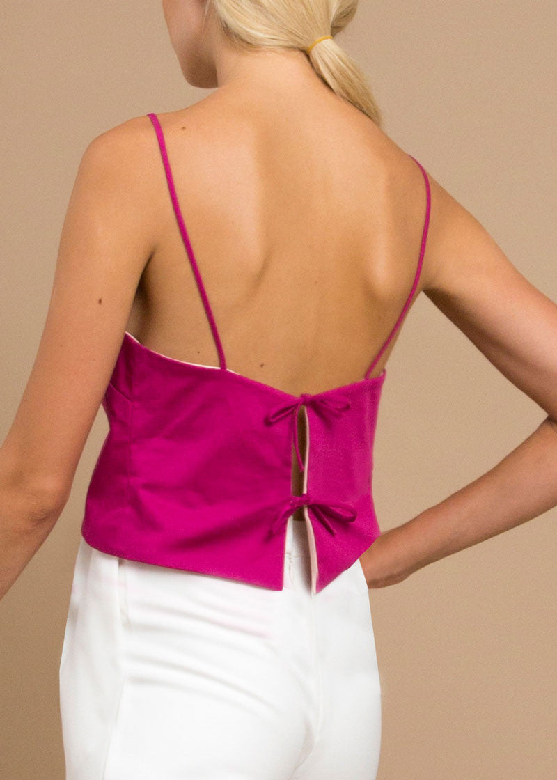 Maxine Reversible Top in Peony
