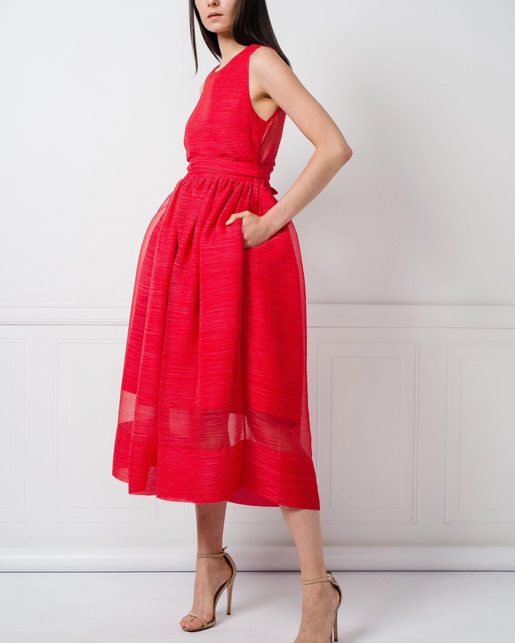 Katherine Dress in Red