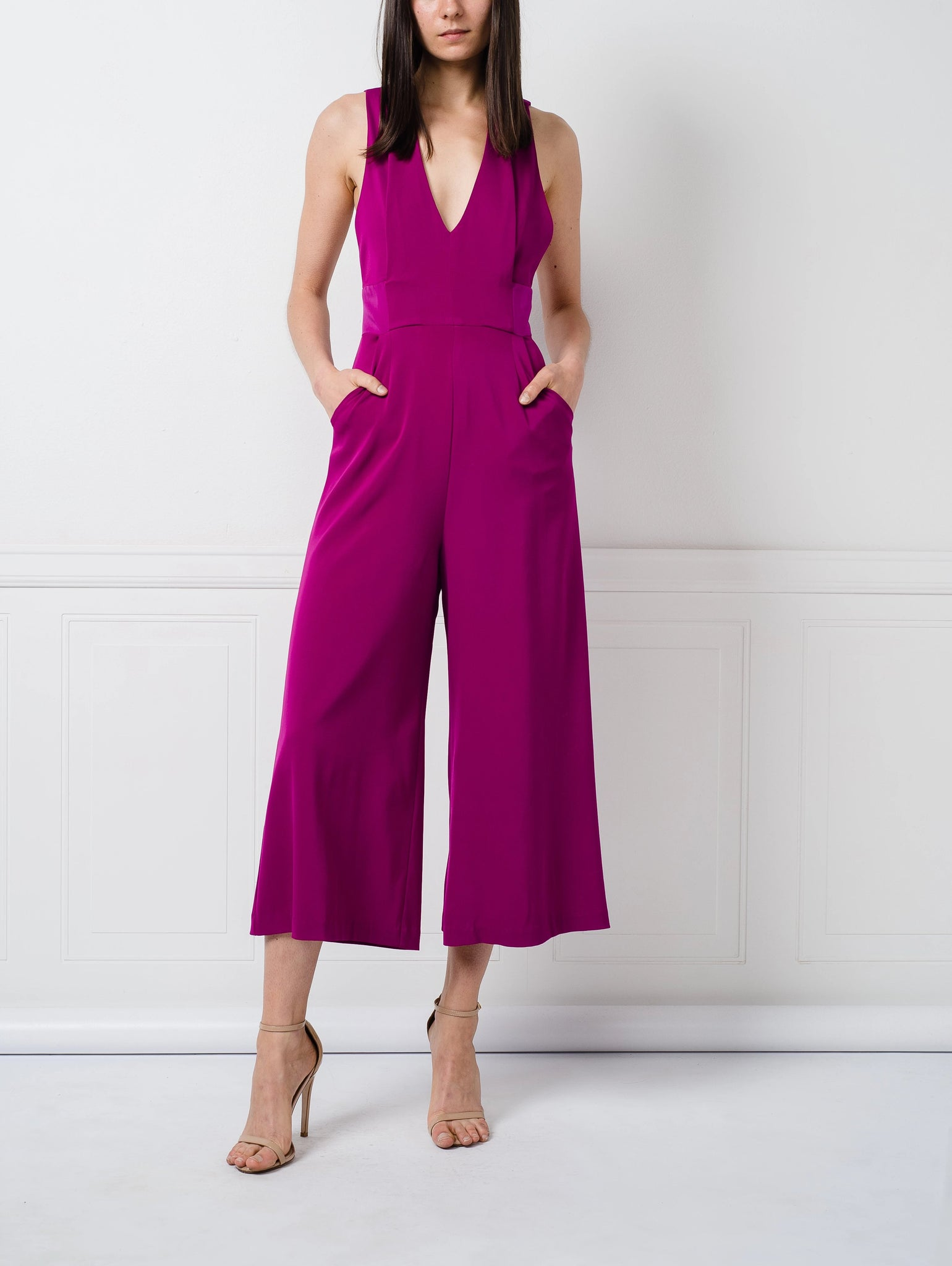 SALE | Zain Jumpsuit in Fuchsia