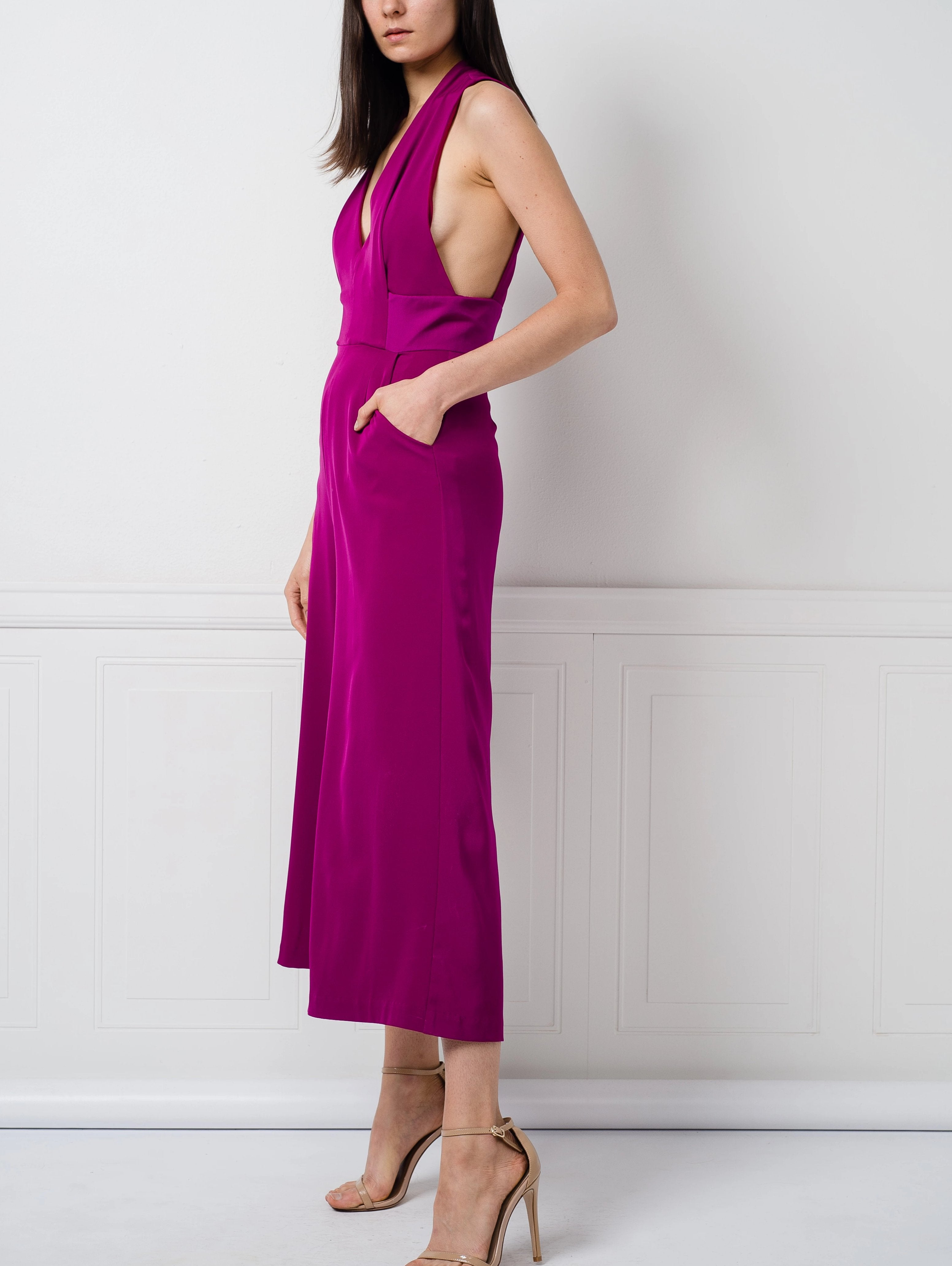 Zain Jumpsuit in Fuchsia