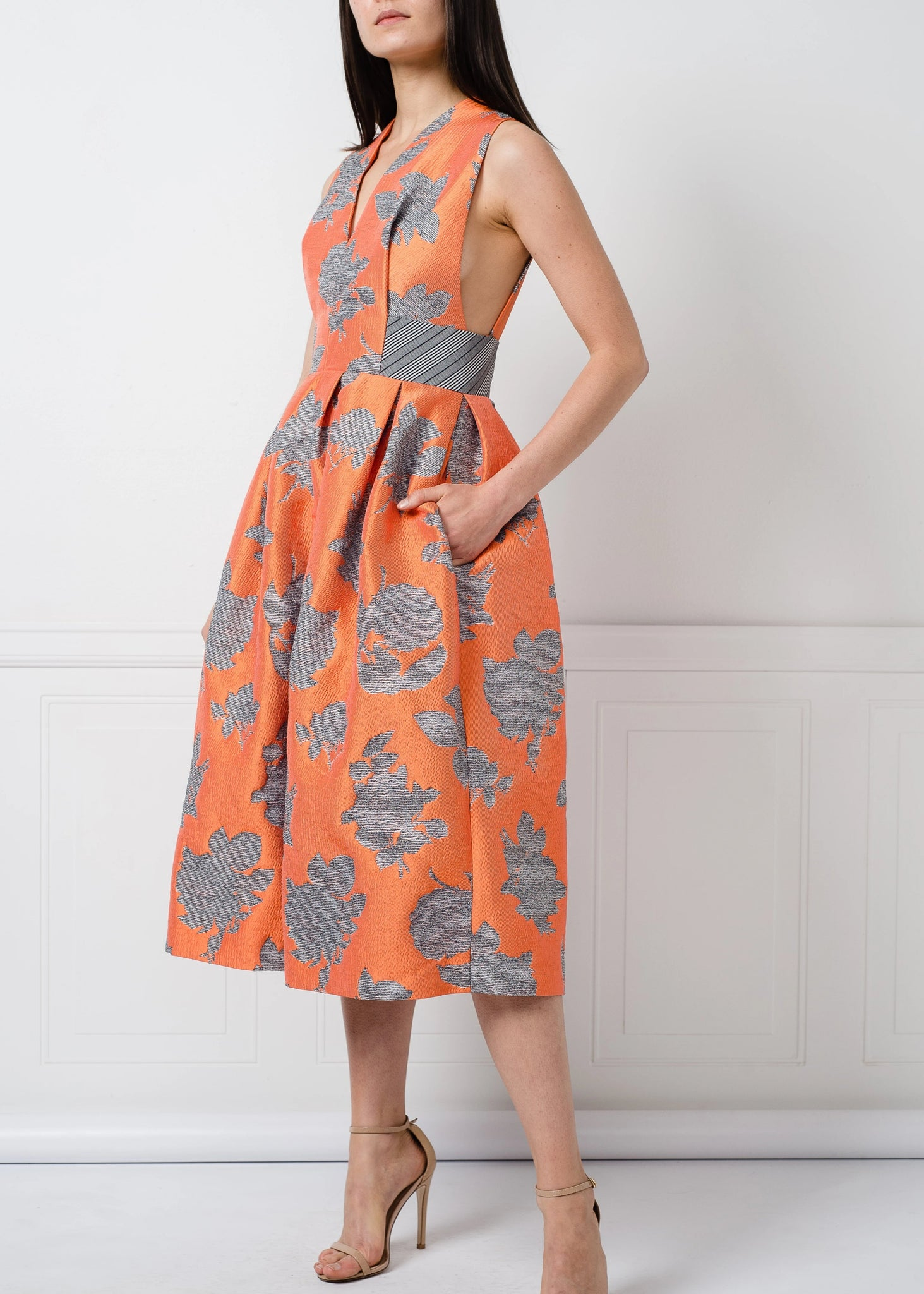 Alkurdi Dress in Orange Floral